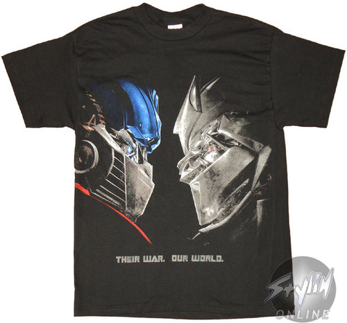 a99b6b81 Transformers Face Off Movie T-Shirt