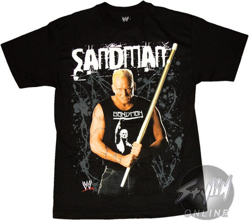 WWE Sandman Bamboo Shinai T-Shirt