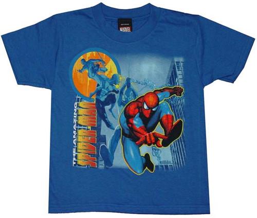 Amazing Spiderman Swing Juvenile T-Shirt