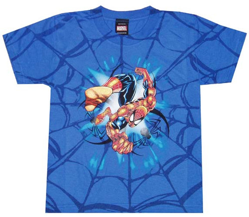 Spiderman Web Rush Juvenile T-Shirt
