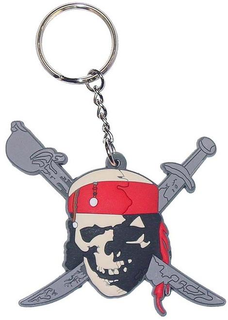 Pirates of the Caribbean Skull Swords Keychain
