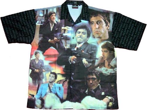 Scarface Scene Collage Club Shirt