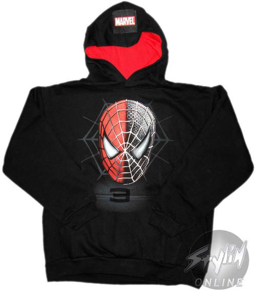 Spiderman Split Face Youth Hoodie