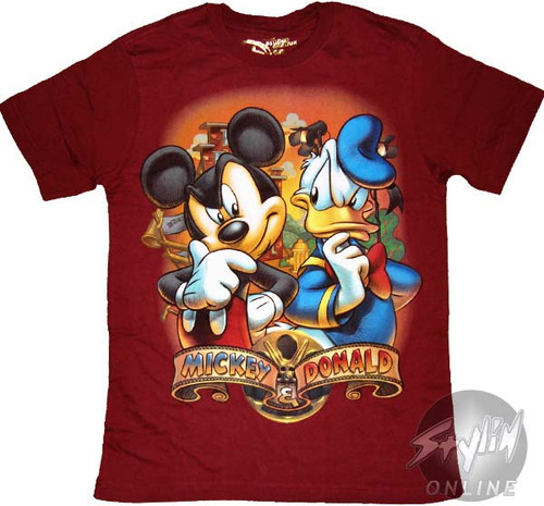 Mickey Mouse Donald Thought Youth T-Shirt