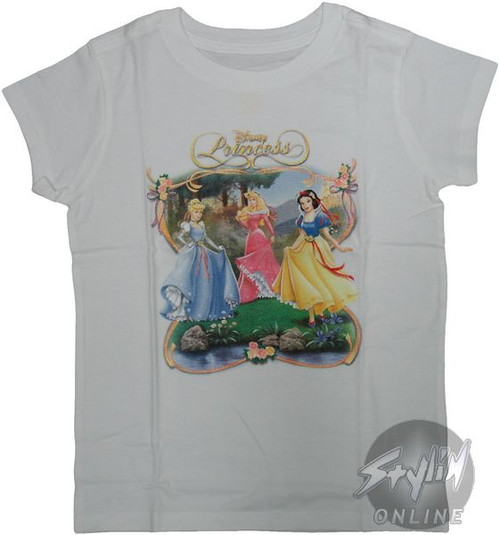 Disney Princess Stream Girls Youth T-Shirt