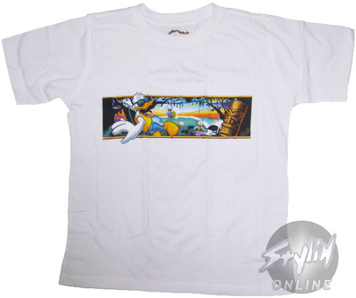 Donald Duck Surfing Youth T-Shirt