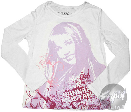 Hannah Montana Design Long Sleeve Tween T-Shirt