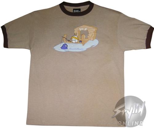 Mashimaro Fishing Youth T-Shirt