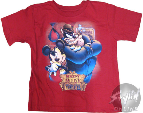 1368e0956 Mickey Mouse and Pete Youth T-Shirt