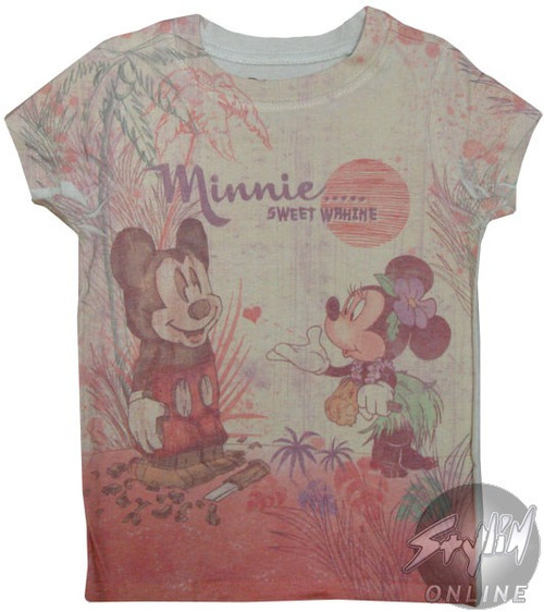 Minnie and Mickey Sweet Wahine Girls T-Shirt
