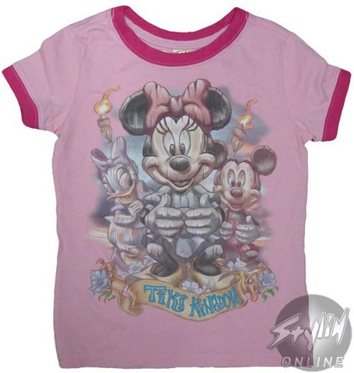 Minnie Tiki Kingdom Girls T-Shirt