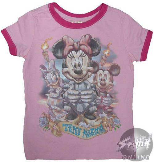 Minnie Tiki Kingdom Girls T-Shirt