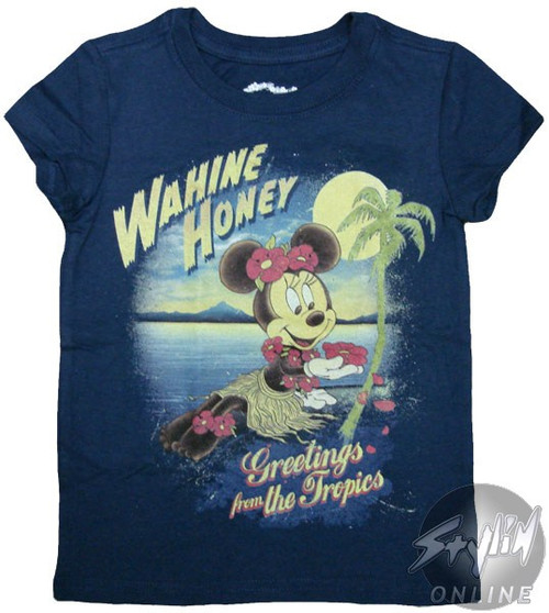 Minnie Greetings Tropics Girls T-Shirt