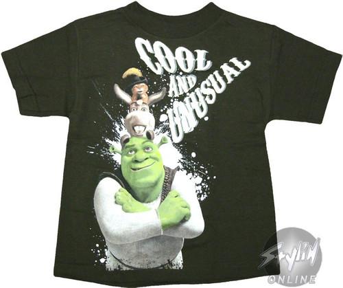 Shrek Characters Juvenile T-Shirt