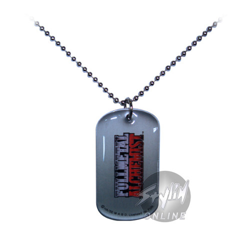 Fullmetal Alchemist Name Dog Tag