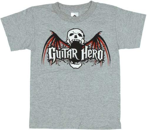 Guitar Hero Bat Skull Youth T-Shirt
