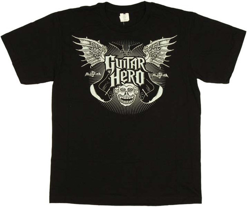 Guitar Hero Winged Name Youth T-Shirt