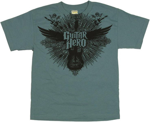 Guitar Hero Winged Guitar Youth T-Shirt