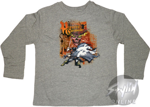 Pirates of the Caribbean Curse Long Sleeve Youth T-Shirt