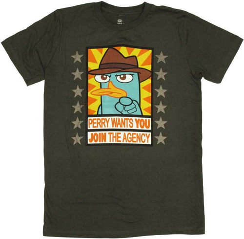 Phineas and Ferb Perry Wants T-Shirt Sheer