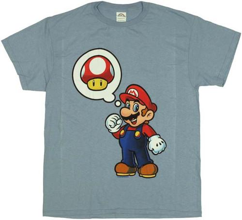 217abc18 Nintendo Mushroom Thought T-Shirt