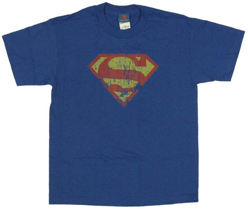 Superman Classic Logo Distressed Youth T-Shirt
