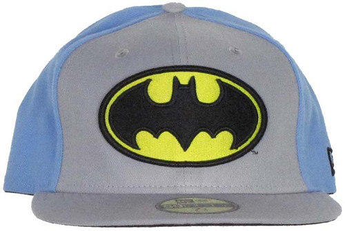 Batman Symbol Blue Back 59FIFTY Hat