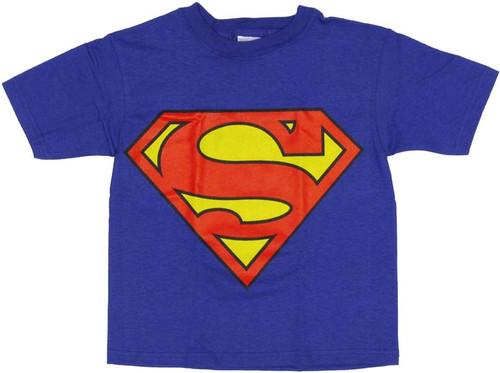 Superman Jumbo Logo Juvenile T-Shirt