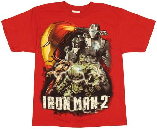 Iron Man 2 Group Youth T-Shirt
