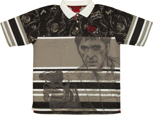 Scarface Tony Sketch Polo Shirt