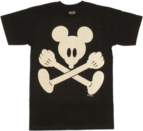 Disney Mickey Pirate Flag T Shirt