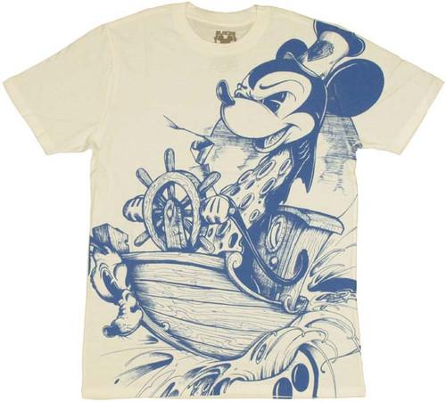 Disney Mickey Steamboat T Shirt Sheer