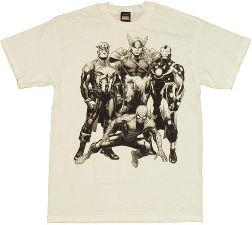 Marvel Inked Heroes T Shirt