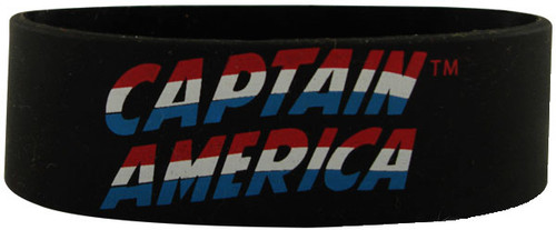 Captain America Logo Rubber Wristband