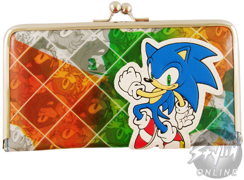 Sonic the Hedgehog Faces Clutch Wallet