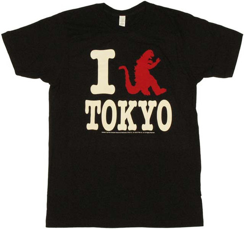 Godzilla I Tokyo T Shirt Sheer