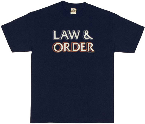 Law and Order Logo T Shirt