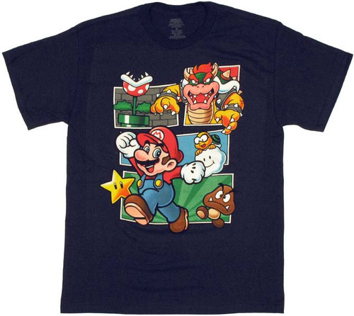 Nintendo Mario Box Collage T Shirt