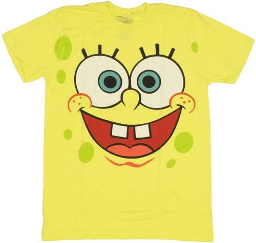 spongebob face t shirt