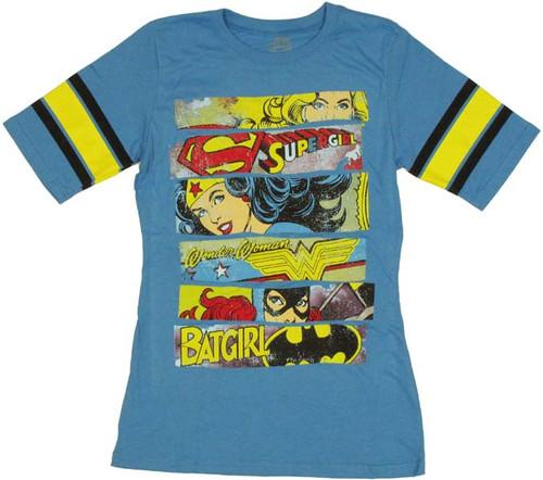 DC Women Banners Jersey Juniors T-Shirt