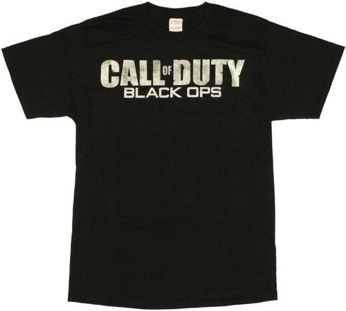 Call of Duty Black Ops Name Logo T Shirt