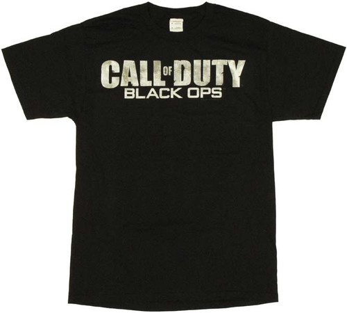 Call of Duty Black Ops Name Logo T Shirt