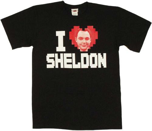 Big Bang Theory I Heart Sheldon T Shirt