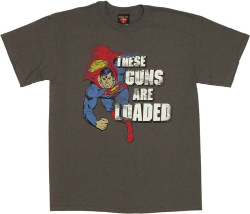 Superman Guns T Shirt