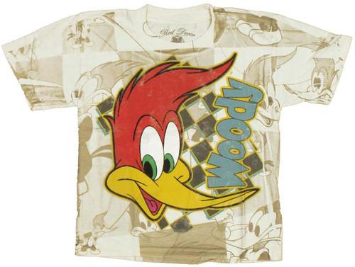 Woody Woodpecker Face Juvenile T Shirt