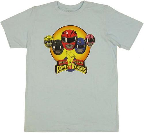 Power Rangers Helmets T Shirt Sheer
