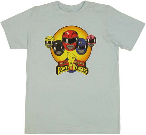 Power Rangers Helmets T Shirt Sheer