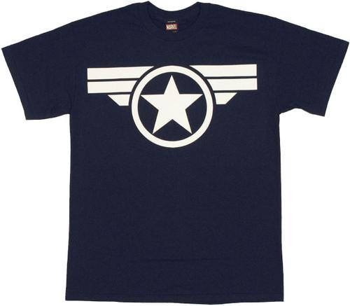 Captain America Soldier Logo T Shirt