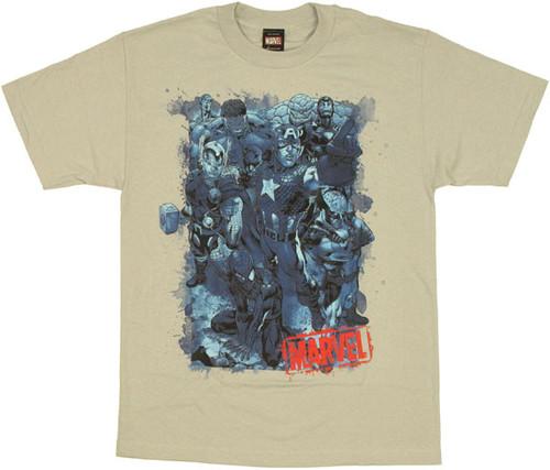 Marvel Blue Heroes T Shirt