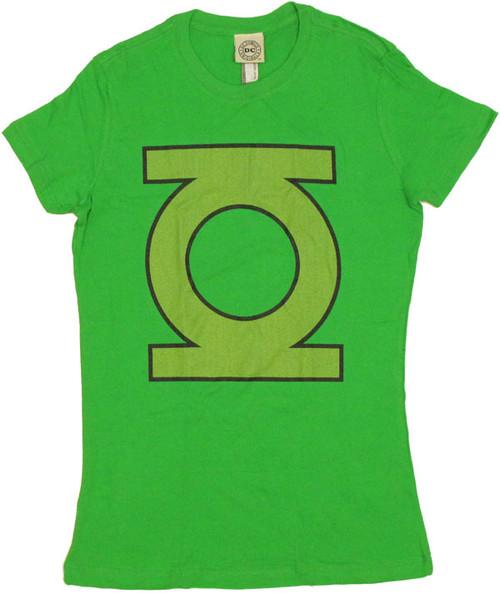 Green Lantern Emblem Logo Juniors T-Shirt